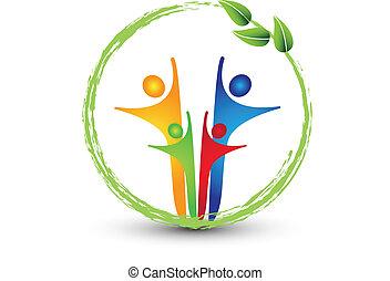 logotipo, sistema, famiglia, ecologia