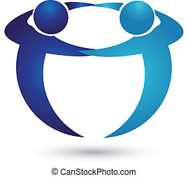 logotipo, squadra, affari persone
