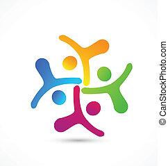 logotipo, squadra affari