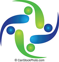 logotipo, squadra, swooshes