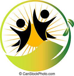 logotipo, squadra, vettore, natura