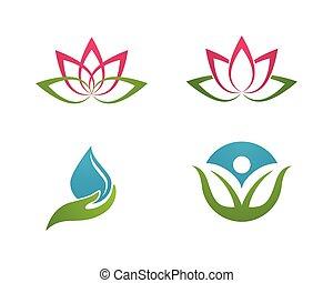 logotipo, stilizzato, loto