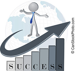 logotipo, successo, ditta, finanziario