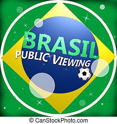 logotipo, tazza, brasil, mondo