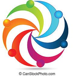 logotipo, unità, lavoro squadra, persone