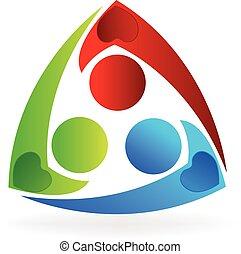 logotipo, unità, persone