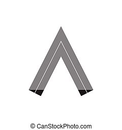 logotipo, vettore, 3d, freccia