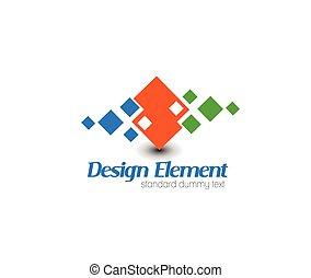 logotipo, vettore, astratto