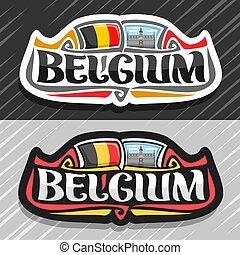 logotipo, vettore, belgio