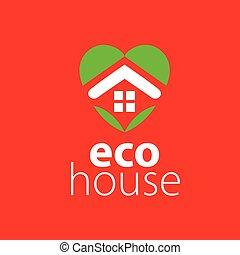 logotipo, vettore, casa