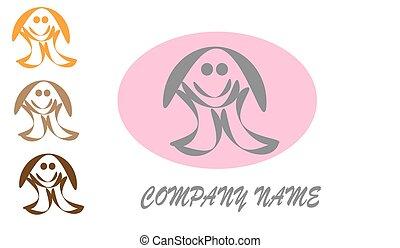 logotipo, vettore, child., web
