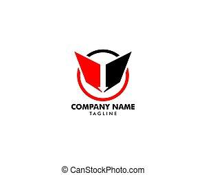 logotipo, vettore, freccia, cerchio, sagoma, disegno