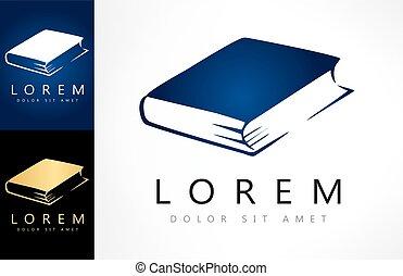 logotipo, vettore, libro