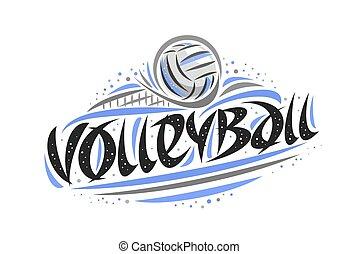logotipo, vettore, pallavolo