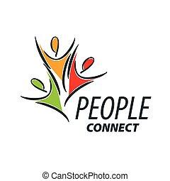 logotipo, vettore, persone