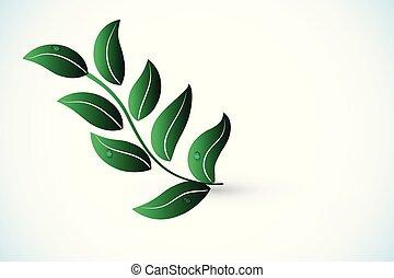 logotipo, vettore, salute, natura, foglia