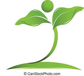 logotipo, vettore, salute, naturale, cura