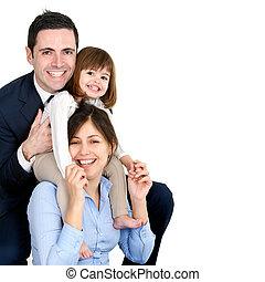 loro, coppia, figlia, giovane, felice