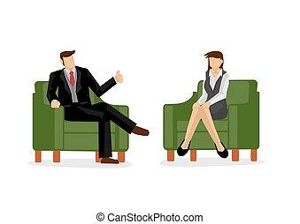 loro, work., duro, lavoro squadra, illustration., appreciation., concetto, lodare, vettore, datore lavoro, employee/staff, cartone animato