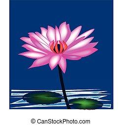loto, logotipo, fiore, fondo