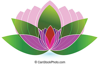 loto, logotipo, fiore, vettore, icona