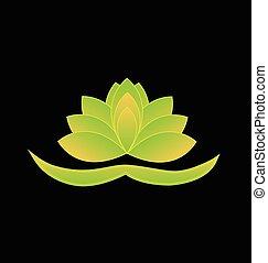 loto, logotipo, simbolo, fiore, cinese