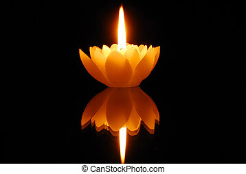 loto, lume di candela
