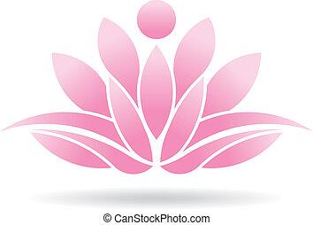 loto, persona, logotipo