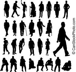 lotti, silhouette, persone