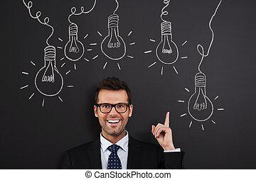 lotto, buono, idee, possedere