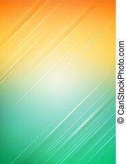 luce arancia, astratto, sfondo verde
