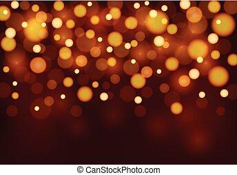 luce arancia, fondo, sagoma
