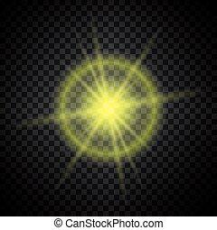 luce, ardendo, brillare, giallo