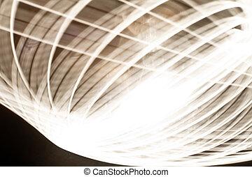 luce, astratto, anelli, traccia