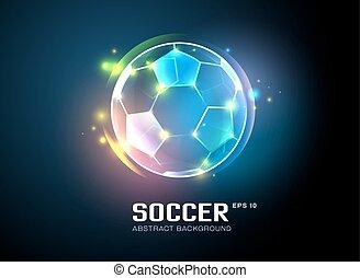 luce, astratto, football, fondo, sfavillante
