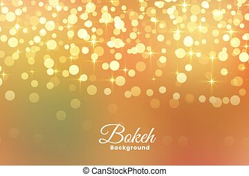 luce, astratto, luccicare, fondo, dorato