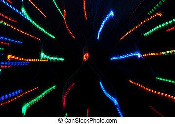 luce, astratto, multicolor, fondo