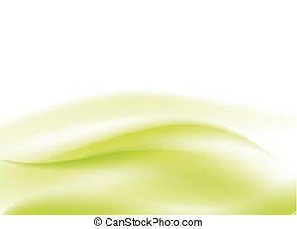 luce, astratto, sfondo verde, fluente