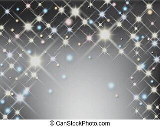 luce, astratto, stella, fondo