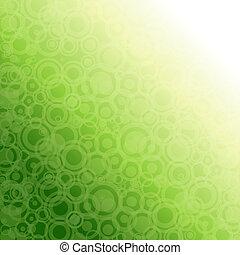 luce, astratto, verde, fondo.