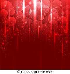 luce, astratto, vettore, sfondo rosso