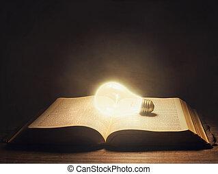 luce, bibbia, bulbo