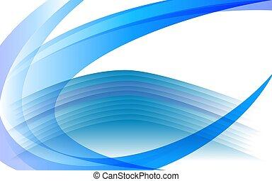 luce blu, astratto, fondo, gradients, cerchio