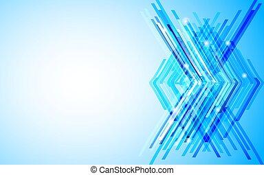 luce blu, astratto, fondo, linea, tecnologia