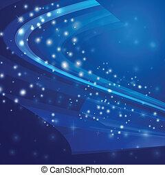 luce blu, astratto, illustrazione, vettore, fondo