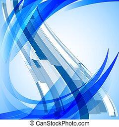 luce blu, astratto, vettore, fondo