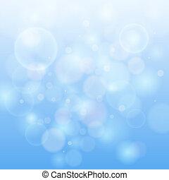 luce blu, bokeh, astratto, fondo.