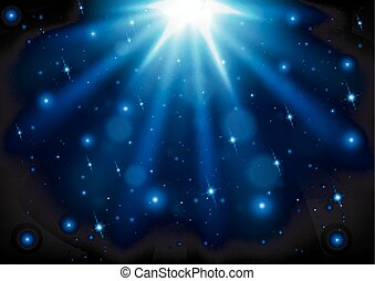 luce blu, fondo, lucente
