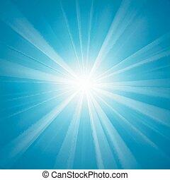 luce blu, illuminato, fondo
