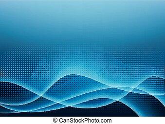 luce blu, illustrazione, ardendo, vettore, futuristico